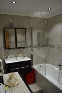 aluminium shower door, shower panel, frameless shower