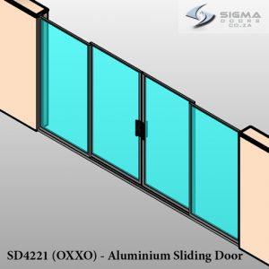 double slider glass door aluminium frame Sigmadoors