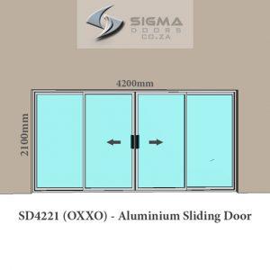 Double door slider aluminium sliding door manufacturer Johannesburg Sigmadoors