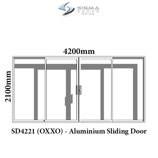 aluminium dooors manufacturer aluminium sliding doors 4200mm by 2100mm Cape Town aluminium doors sizes Builders Sigmadoors