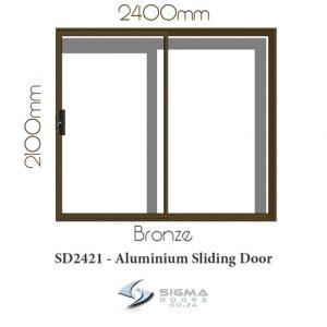 Bronze aluminium sliding door size cheap aluminium door Sigmadoors