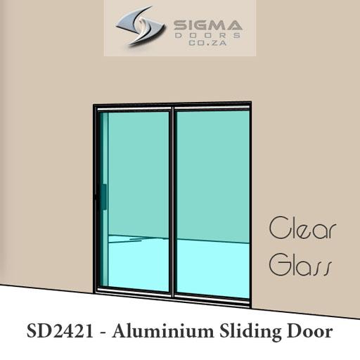 aluminium sliding door with clear glass Sigmadoors
