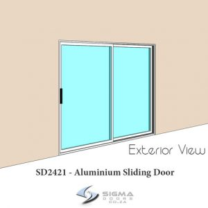 Exterior view of aluminium sliding door Sigmadoors