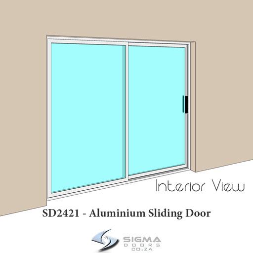 interior view of sliding glass door Sigmadoors