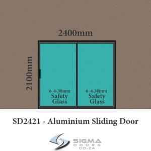 Cheap aluminium glass door for sale aluminium sliding door SD2421 Sigmadoors