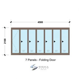 4521 Aluminium folding door for sale South Africa aluminium stack doors Sigmadoors