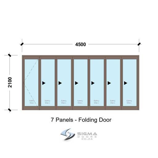 4521 Aluminium folding door for sale South Africa aluminium stack doors aluminium sliding folding doors for sale Cape Town Aluminium folding doors in Pretoria Sigmadoors