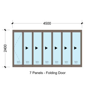 Aluminium folding doors Bi-fold SFD4524_7 Panel Aluminium Vistafold Folding Door Sigmadoors Aluminium Door, Sliding folding door, patio door, aluminium doors with prices, Vista folding doors, Sigmadoors, Johannesburg, South Africa