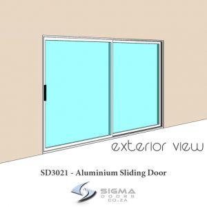 aluminium sliding door sizes oxxo 3m x 2.1m Sigmadoors