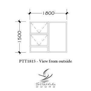 aluminium bedroom windows PTT1815 1800 x 1500mm Sigmadoors