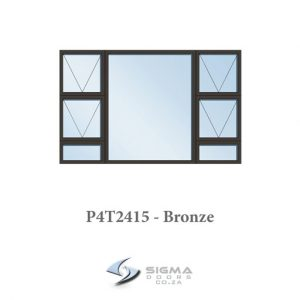 Aluminium windows bronze colour Sigmadoors