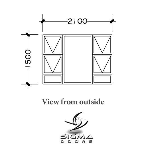 standard Aluminium window sizes Sigmadoors