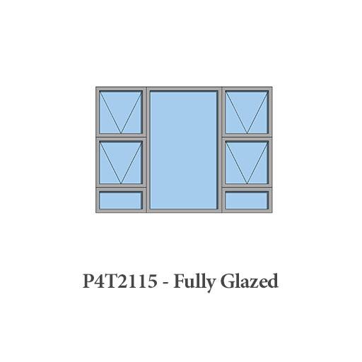 glazed aluminium windows P4T2115 Sigmadoors