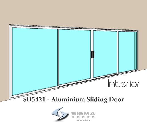 SD5421 Aluminium sliding door frame Sigmadoors
