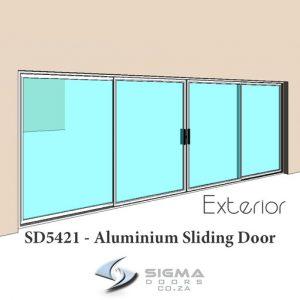 5400 x 2100mm Sliding glass door aluminium glass door for sale SIgmadoors