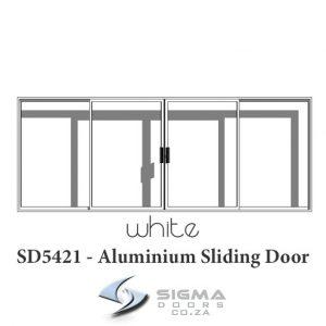 White aluminium sliding door Sigmadoors