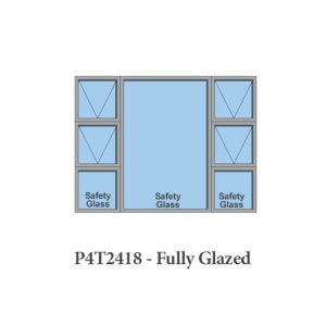 Fully glazed aluminium window Sigmadoor