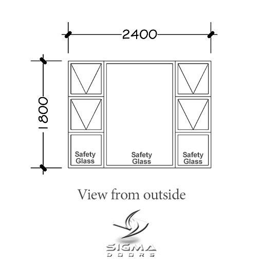 Aluminium window with prices P4T2418 Sigmadoors