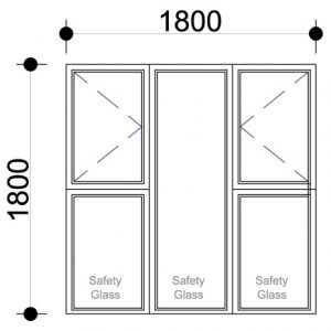 Aluminium windows for sale Side Hung Aluminium Windows