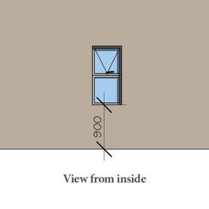 Aluminium awning windows 600 x 1200mm Sigmadoors
