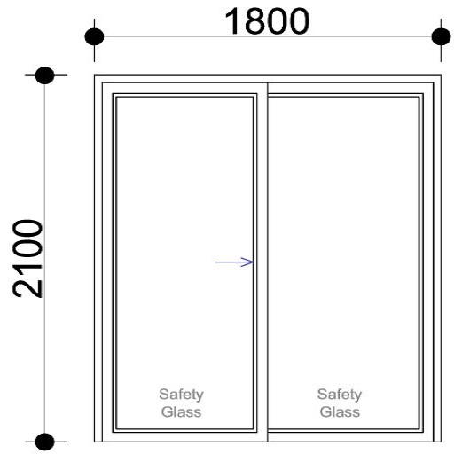 Sd1821 Aluminium Sliding Door