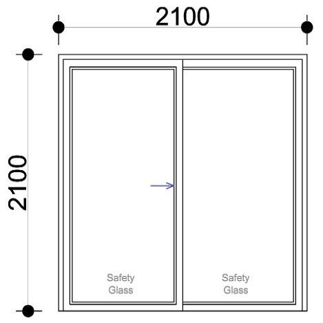 Sigmadoors Sliding Aluminium Door_SD2121-X