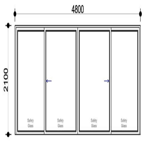 Sigmadoors Sliding Aluminium Door_SD4821-XX