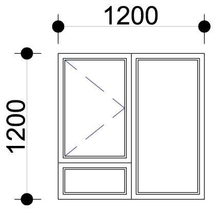 Sigmadoors.Aluminium Windows-Casement windows_PS1212