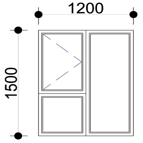 Sigmadoors.Aluminium Windows-Casement windows_PS1215