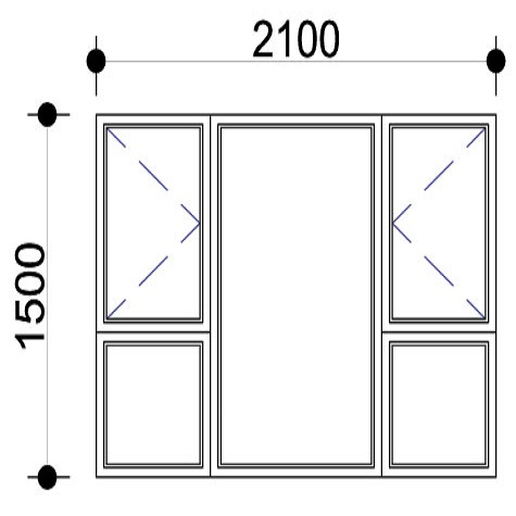 Sigmadoors.Aluminium Windows-Casement windows_PSS2115