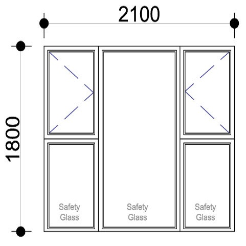 Sigmadoors.Aluminium Windows-Casement windows_PSS2118