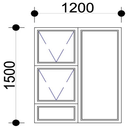 Sigmadoors.Aluminium Windows-Casement windows_PTT1215