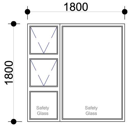 Sigmadoors.Aluminium Windows-Casement windows_PTT1818