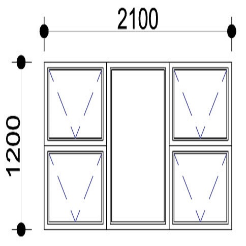 Sigmadoors.Aluminium Windows-Casement windows_PTTTT2112