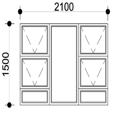 Sigmadoors.Aluminium Windows-Casement windows_PTTTT2115