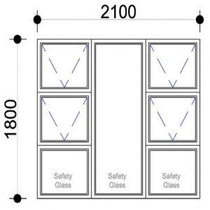 Sigmadoors Top Hung Windows Aluminium Windows