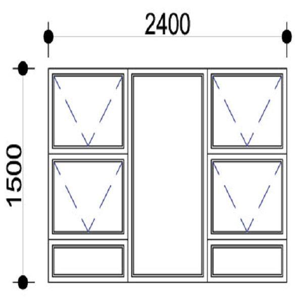 Sigmadoors.Aluminium Windows-Casement windows_PTTTT2415