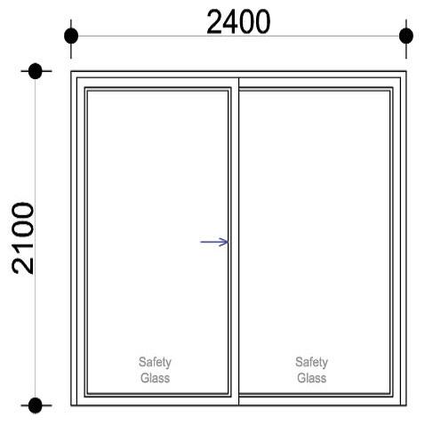 Sigmadoors.Aluminium Sliding Door SD2421-X