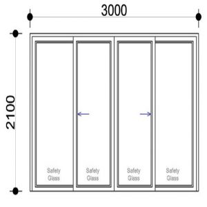 Sigmadoors Sliding Aluminium Doors Sliding Door for Sale