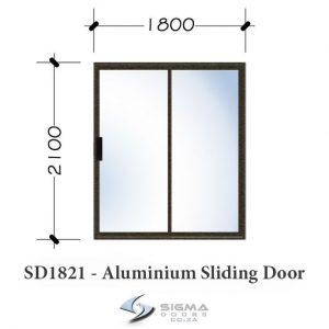 Aluminium sliding door sizes 1800 x 2100mm Sigmadoors