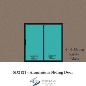 6.38mm Safety glass on aluminium sliding doors Sigmadoors
