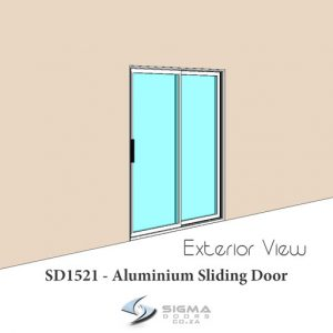 Standard aluminium sliding door sizes 1500 x 2100mm Sigmadoors