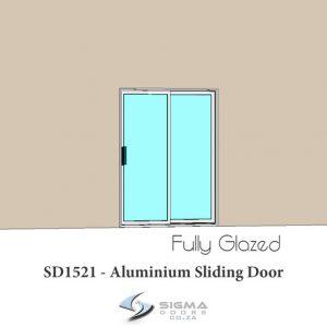 Aluminium sliding door sizes SD1521 Sigmadoors