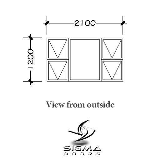 bronze aluminium windows with prices Sigmadoors