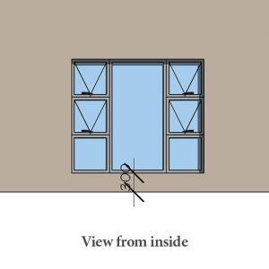 Aluminium window with handles Sigmadoors