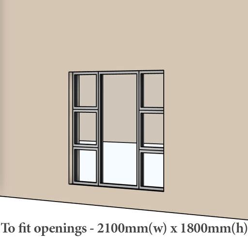 Builders aluminium widnows and doors sizes Sigmadoors