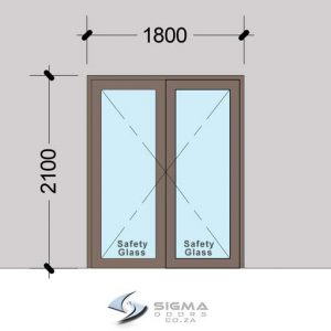 Aluminium Double Doors Aluminium Hinged Doors French
