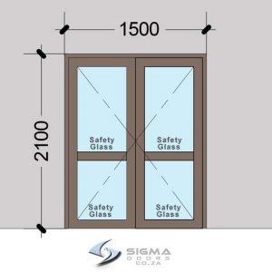 French Doors DHD1521|Aluminium Hinged Doors|Sigmadoors - SigmaDoors on