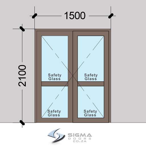 DHDM1521–Aluminium-Double-Hinged-Door-with-Midrails–-Sigmadoors