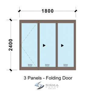 Aluminium sliding folding doors, SFD1824_3 Panel Aluminium Vistafold Folding Door?1800 x 2400mm Front doors Aluminium double doors aluminium patio doors aluminium doors for sale french doors for sale aluminium doors cape town johannesburg storm door aluminium glass doors door frame exterior glassdoor door frames, Sliding folding door, patio door, aluminium doors with prices, Vista folding doors, Sigmadoors, Johannesburg, South Africa